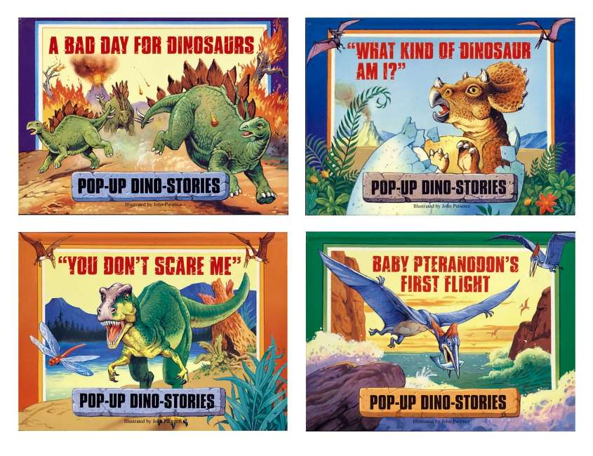 Pop-up Dino Stories - covers